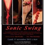Concert Sonic Swing – Lundi 11 novembre 2013