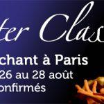 Master class août 2017